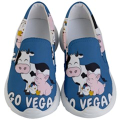 Friends Not Food   Cute Cow, Pig And Chicken Kid s Lightweight Slip Ons