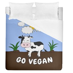 Friends Not Food   Cute Cow Duvet Cover (queen Size)