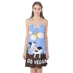 Friends Not Food   Cute Cow Camis Nightgown