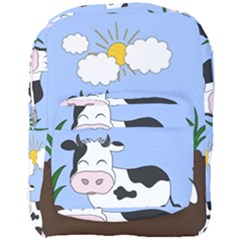 Friends Not Food   Cute Cow Full Print Backpack by Valentinaart