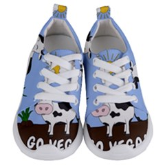 Friends Not Food   Cute Cow Kids  Lightweight Sports Shoes