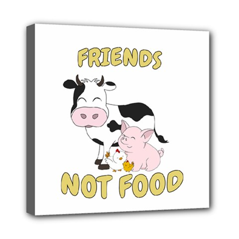 Friends Not Food   Cute Cow, Pig And Chicken Multi Function Bag	 by Valentinaart