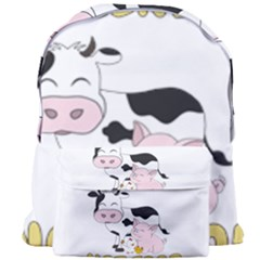 Friends Not Food - Cute Cow, Pig And Chicken Giant Full Print Backpack by Valentinaart