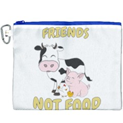 Friends Not Food   Cute Cow, Pig And Chicken Canvas Cosmetic Bag (xxxl) by Valentinaart