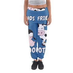 Friends Not Food   Cute Cow, Pig And Chicken Women s Jogger Sweatpants