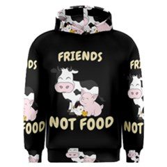 Friends Not Food   Cute Cow, Pig And Chicken Men s Overhead Hoodie