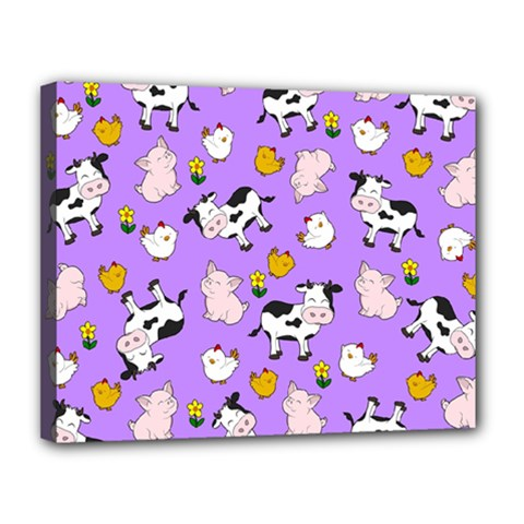 The Farm Pattern Canvas 14  X 11
