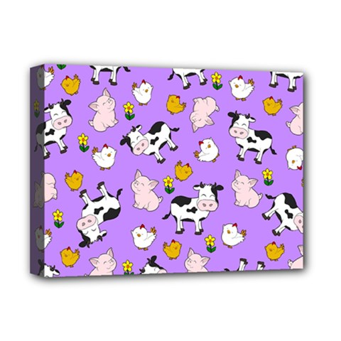 The Farm Pattern Deluxe Canvas 16  X 12   by Valentinaart
