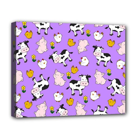 The Farm Pattern Deluxe Canvas 20  X 16   by Valentinaart