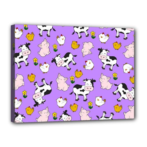 The Farm Pattern Canvas 16  X 12  by Valentinaart