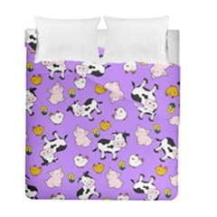 The Farm Pattern Duvet Cover Double Side (full/ Double Size) by Valentinaart