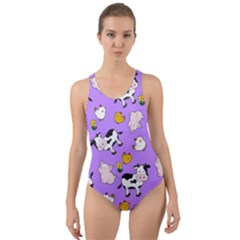 The Farm Pattern Cut Out Back One Piece Swimsuit