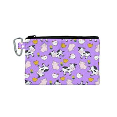 The Farm Pattern Canvas Cosmetic Bag (small) by Valentinaart