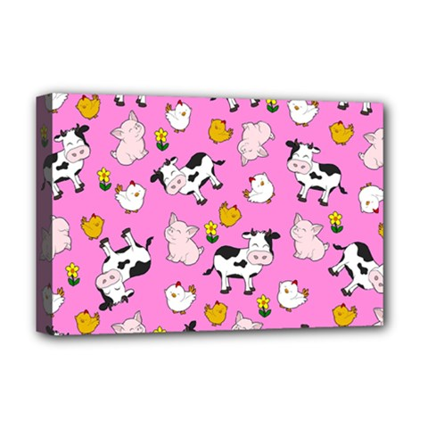 The Farm Pattern Deluxe Canvas 18  X 12   by Valentinaart