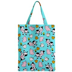 The Farm Pattern Classic Tote Bag by Valentinaart