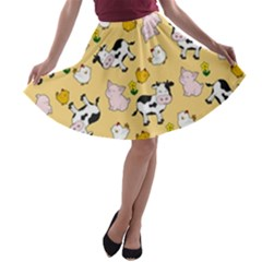 The Farm Pattern A Line Skater Skirt