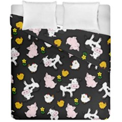 The Farm Pattern Duvet Cover Double Side (california King Size)