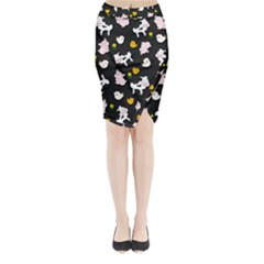 The Farm Pattern Midi Wrap Pencil Skirt