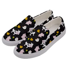 The Farm Pattern Men s Canvas Slip Ons by Valentinaart