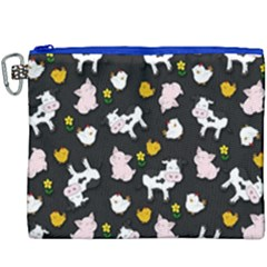 The Farm Pattern Canvas Cosmetic Bag (xxxl) by Valentinaart