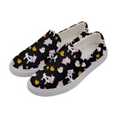 The Farm Pattern Women s Canvas Slip Ons by Valentinaart