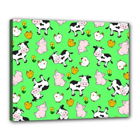 The Farm Pattern Canvas 20  X 16  by Valentinaart