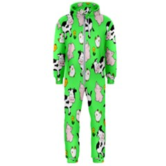 The Farm Pattern Hooded Jumpsuit (men)