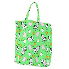 The Farm Pattern Giant Grocery Zipper Tote