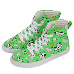 The Farm Pattern Women s Hi Top Skate Sneakers by Valentinaart