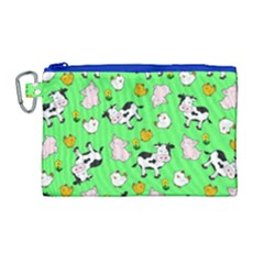 The Farm Pattern Canvas Cosmetic Bag (large) by Valentinaart