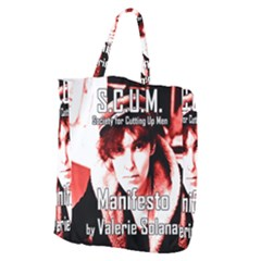 Valerie Solanas Giant Grocery Zipper Tote