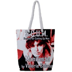 Valerie Solanas Full Print Rope Handle Tote (small) by Valentinaart