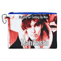 Valerie Solanas Canvas Cosmetic Bag (xl) by Valentinaart