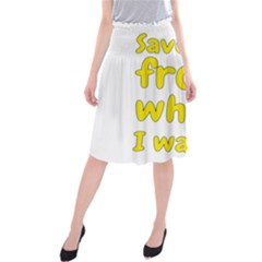 Save Me From What I Want Midi Beach Skirt by Valentinaart