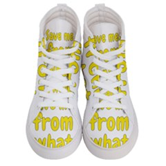 Save Me From What I Want Women s Hi Top Skate Sneakers