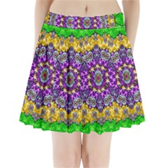 Sunshine In Mind The Season Is Decorative Fine Pleated Mini Skirt by pepitasart
