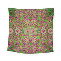 Love The Wood Garden Of Apples Square Tapestry (small) by pepitasart