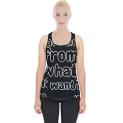 Save Me From What I Want Piece Up Tank Top by Valentinaart