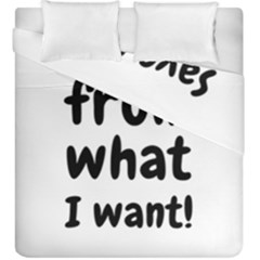 Save Me From What I Want Duvet Cover Double Side (king Size) by Valentinaart