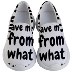 Save Me From What I Want Kid s Lightweight Slip Ons by Valentinaart