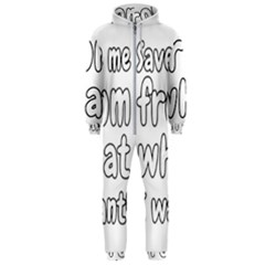 Save Me From What I Want Hooded Jumpsuit (men)