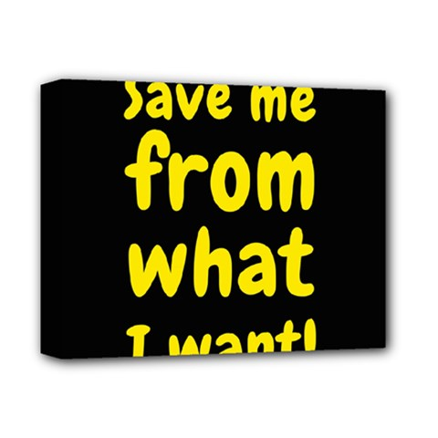 Save Me From What I Want Deluxe Canvas 14  X 11