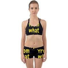 Save Me From What I Want Back Web Sports Bra Set