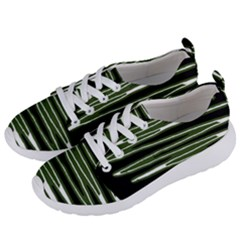 Sketched Wavy Stripes Pattern Women s Lightweight Sports Shoes by dflcprints