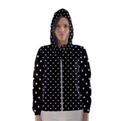 Black Polka Dots Hooded Wind Breaker (women)