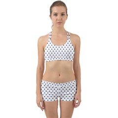White Polka Dots Back Web Sports Bra Set by jumpercat