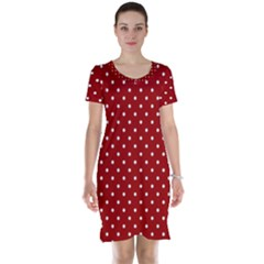 Red Polka Dots Short Sleeve Nightdress by jumpercat