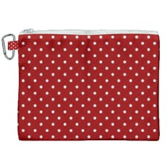 Red Polka Dots Canvas Cosmetic Bag (xxl) by jumpercat
