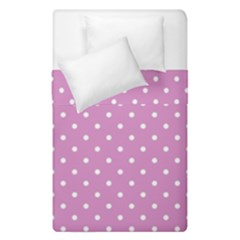 Pink Polka Dots Duvet Cover Double Side (single Size) by jumpercat