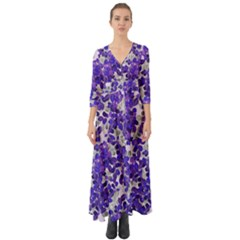Mistic Leaves Button Up Boho Maxi Dress by jumpercat